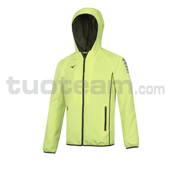 32EE7002 - Micro Jacket Hooded - Yellow Fluo/Royal