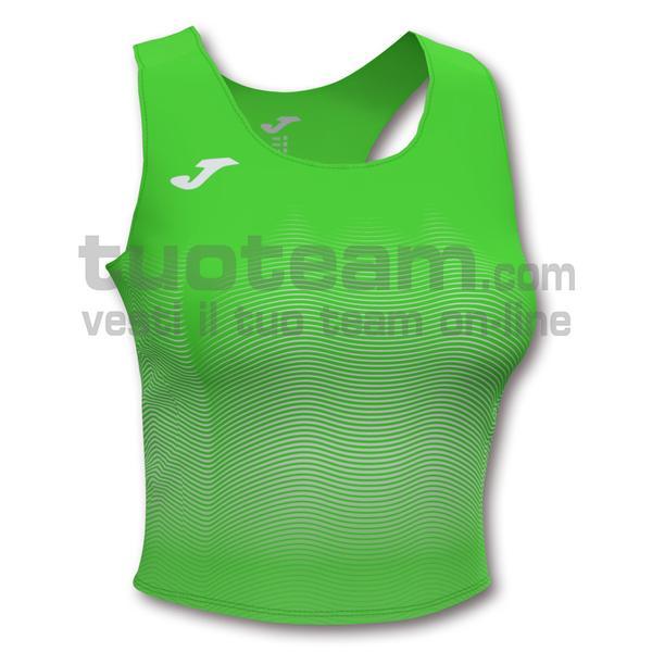 901018 - ELITE VII WOMAN TOP 90% polyester 10% elastane - 020 VERDE FLUOR