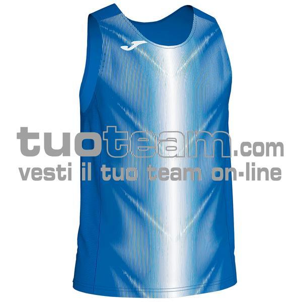 101348 - CANOTTA OLIMPIA 95% polyester 5% elastane - 702 ROYAL / BIANCO