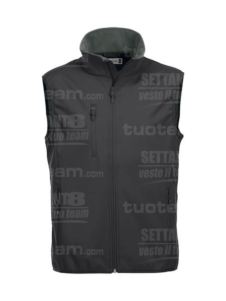 020911 - GILET Basic Softshell Vest Men - 99 nero