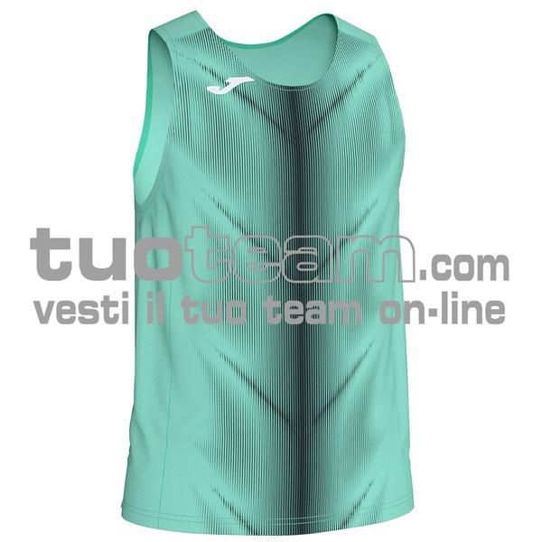 101348 - CANOTTA OLIMPIA 95% polyester 5% elastane - 120 CORALLO / NERO