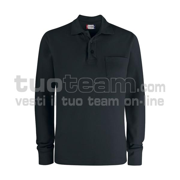 028235 - Basic Polo L/S w. Pocket