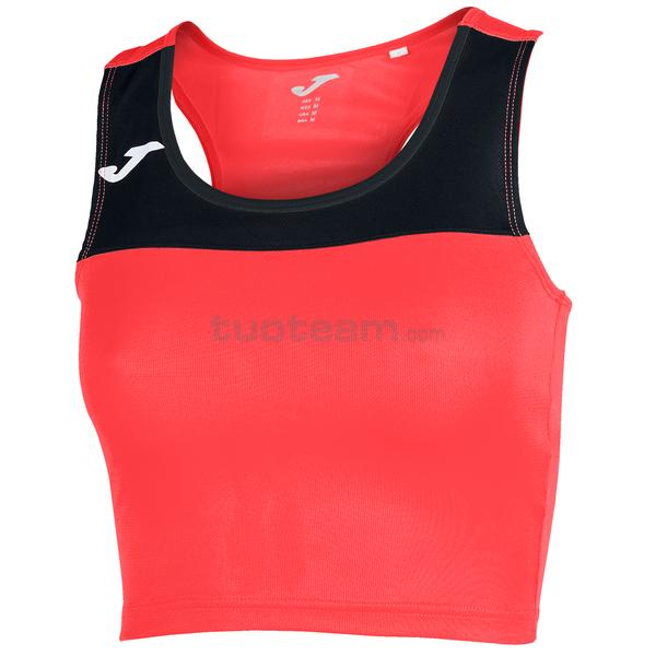 900758 - RACE WOMAN TOP RACE - 041 ARANCIO SCURO FLUOR / NERO