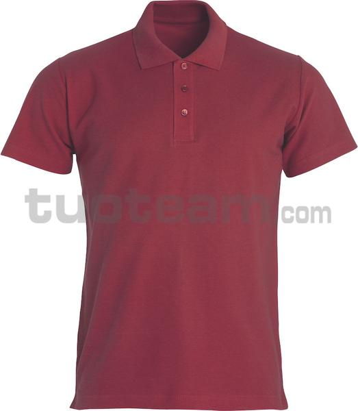 028230 - polo basic - 38 bordeaux