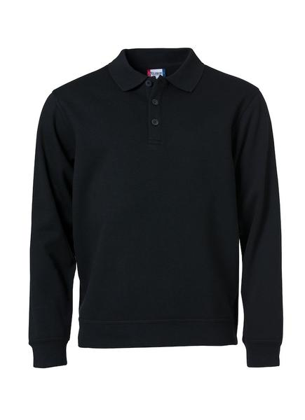 021032 - Basic Polo Sweater - 99 nero