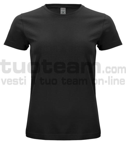 029365 - Organic Cotton T-shirt Lady - 99 nero