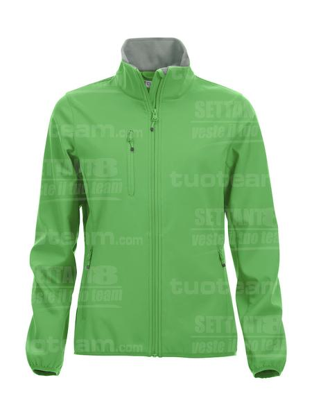 020915 - GIACCA Basic Softshell Jacket Ladies - 605 verde acido
