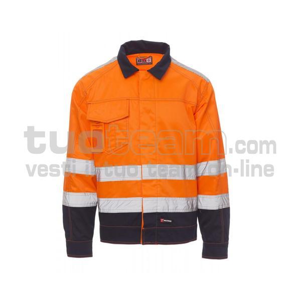 SAFE HI-VI - SAFE HI-VI TWILL 245/250GR - ARANCIONE FLUO/BLU NAVY