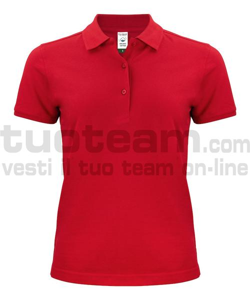 028265 - Organic Cotton Polo Lady - 35 rosso