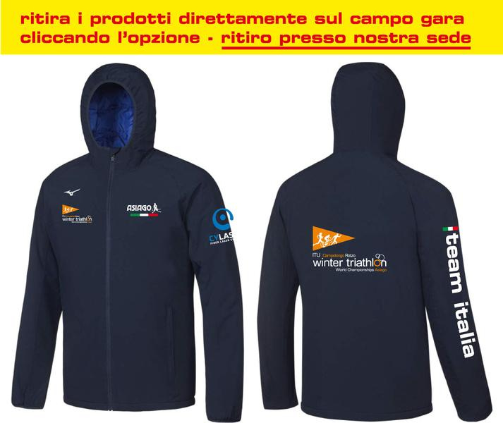 BD1800059 - Giacca Antivento Navy Uomo World Championship Winter Triathlon(IT)