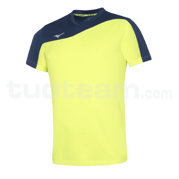 V2EA7003 - authentic myou t/shirt - Yellow Fluo/Royal