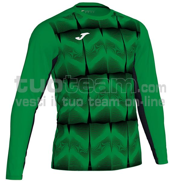 101301 - MAGLIA ML PORTERO DERBY IV 100% polyester interlock sublimato - 451 VERDE / NERO