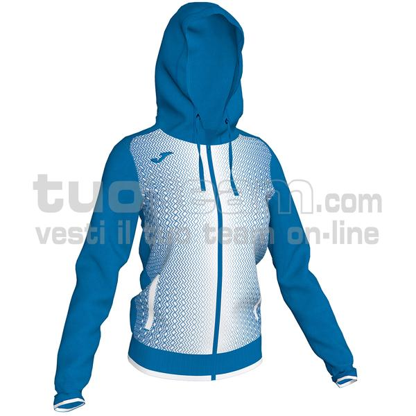 900891 - SUPERNOVA WOMAN FELPA FULL ZIP 100% polyester tricot - 702 ROYAL / BIANCO