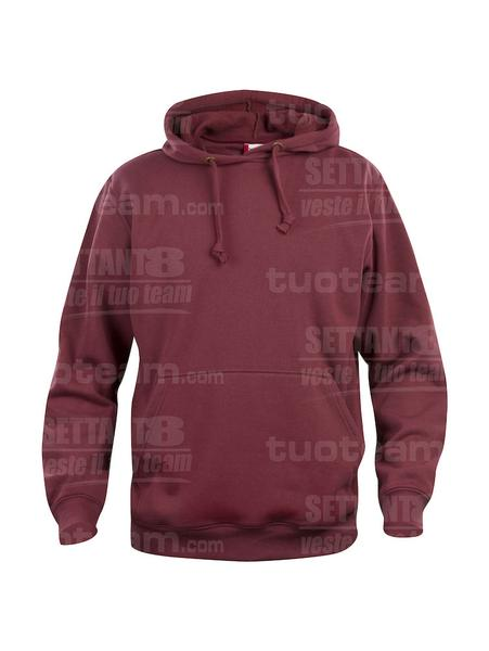 021031 - FELPA Basic Hoody - 38 bordeaux
