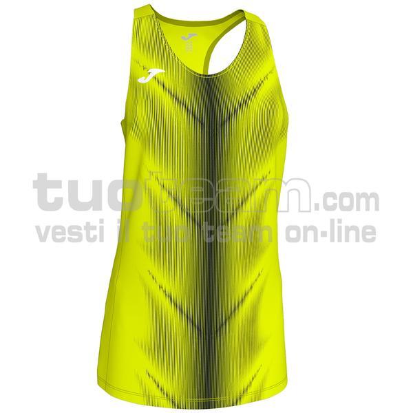 900932 - CANOTTA OLIMPIA 95% polyester 5% elastane - 061 GIALLO FLUO/NERO