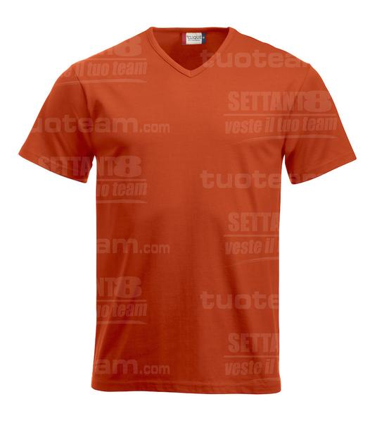 029331 - T-SHIRT Fashion-T V-neck - 18 arancione