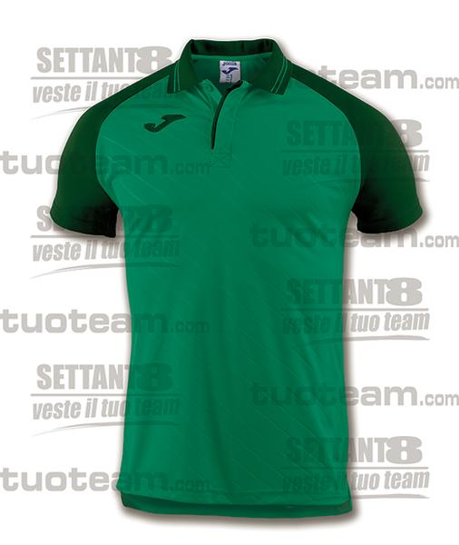 100639 - TORNEO II POLO MC 100% polyester interlock - VERDE/VERDE SCURO