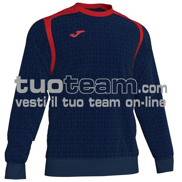 101266 - FELPA CHAMPION V girocollo 100% polyester fleece - 336 DARK NAVY / ROSSO