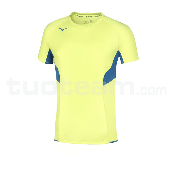 U2EA7102 - Authentic T/shirt - Yellow Fluo/Royal