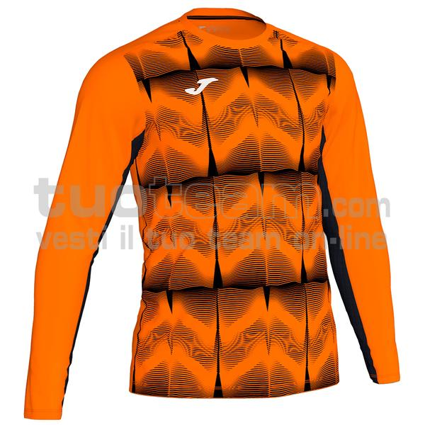 101301 - DERBY MAGLIA ML 100% polyester interlock sublimato - 051 ARANCIO / NERO