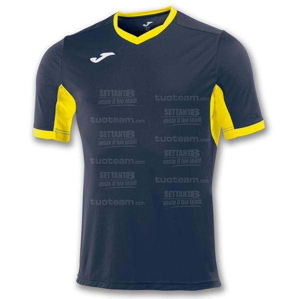 100683 - CHAMPION IV MAGLIA MC 100% polyester interlock - 309 BLU NAVY/GIALLO
