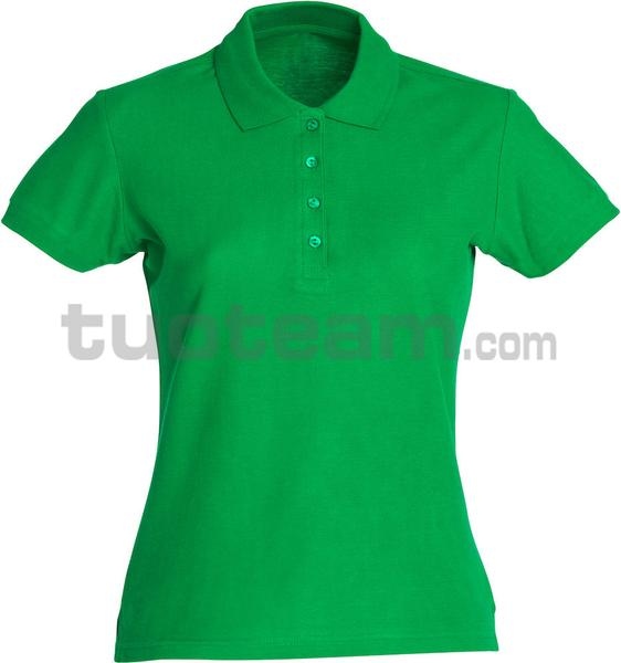 028231 - polo basic lady - 605 verde acido