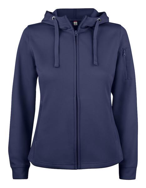 021015 - Basic Active Hoody Full Zip Lady - 580 blu navy