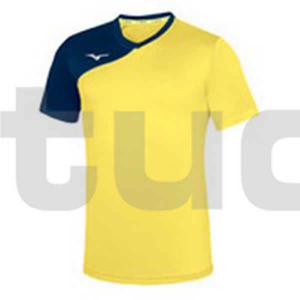 P2EA7930 - Trad shukyu shirt JR - Yellow Fluo/Royal