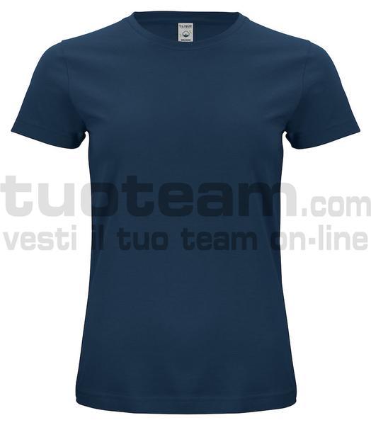 029365 - Organic Cotton T-shirt Lady - 580 blu navy