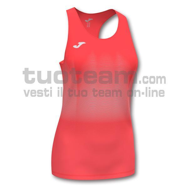 901036 - ELITE VII WOMAN CANOTTA 95% polyester 5% elastane - 040 ARANCIONE FLUOR SCURO