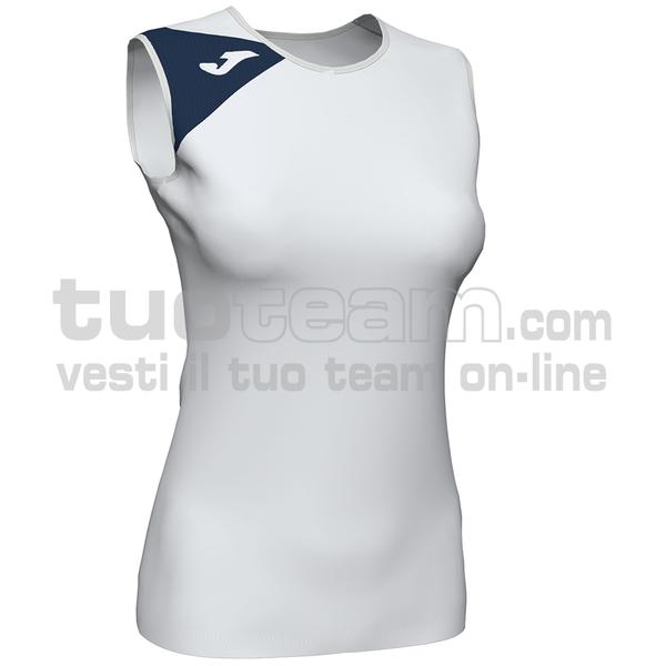 900870 - SPIKE II WOMAN SMANICATO 100% polyester interlock - 203 BIANCO / DARK NAVY