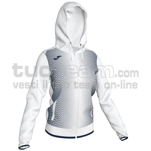 900891 - FELPA FULL ZIP 100% polyester tricot - 203 BIANCO / DARK NAVY