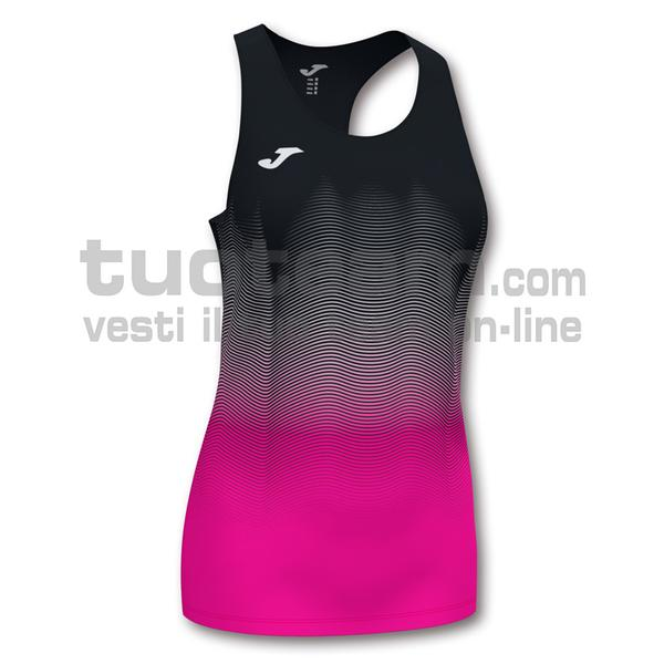 901036 - ELITE VII WOMAN CANOTTA 95% polyester 5% elastane - NERO-ROSA FLUO