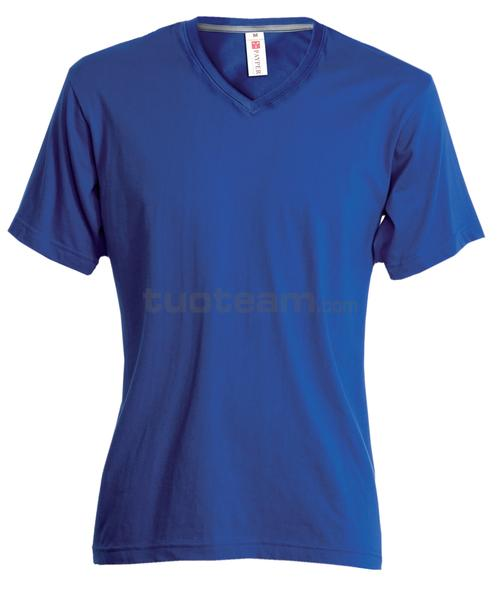 V-NECK - T-SHIRT V-NECK - BLU ROYAL