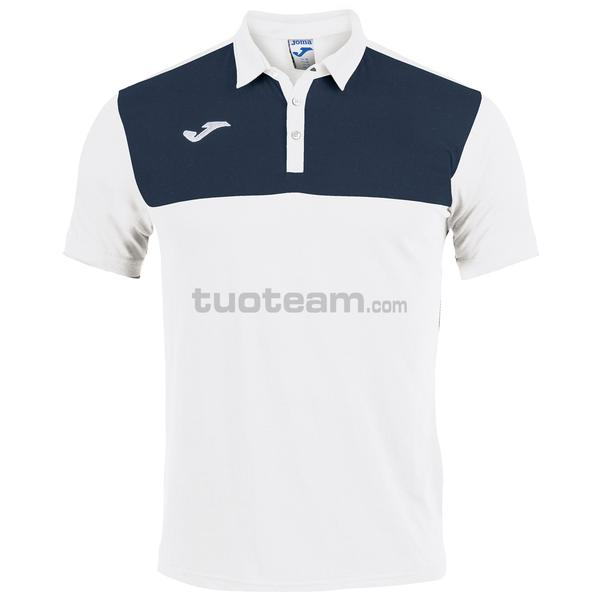 101108 - WINNER II POLO WINNER MC 65% polyester 35% cotton - 203 BIANCO / DARK NAVY