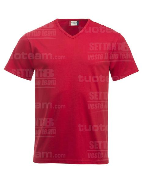 029331 - T-SHIRT Fashion-T V-neck - 35 rosso