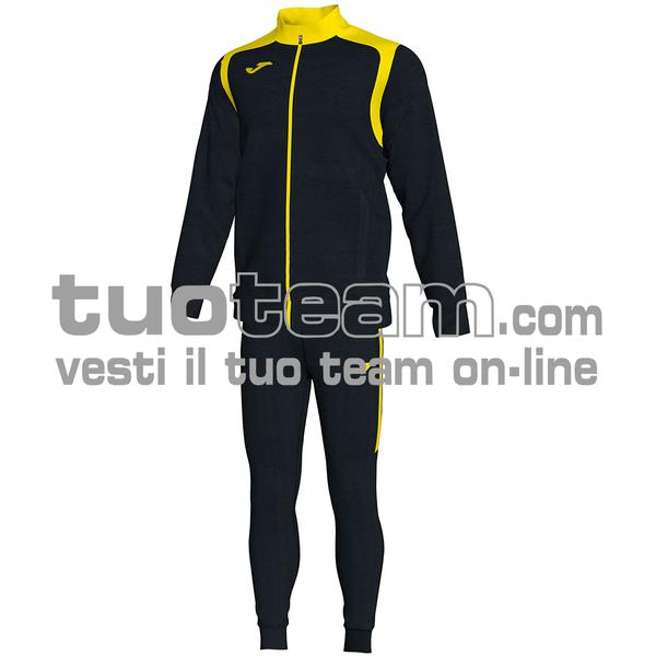 101267 - TUTA 100% polyester interlock - 109 NERO / GIALLO