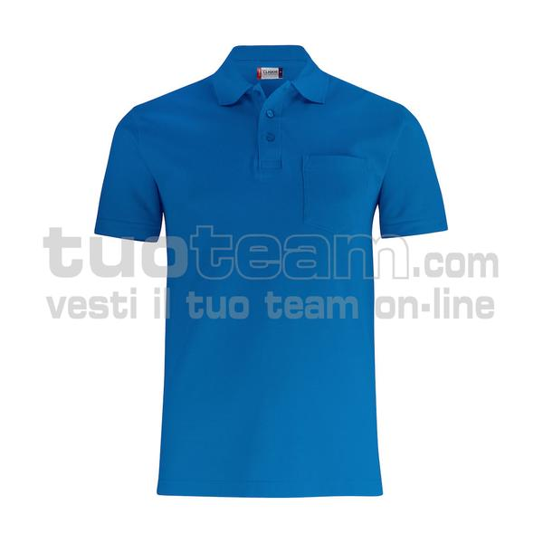 028255 - Basic Polo w. Pocket - 55 royal