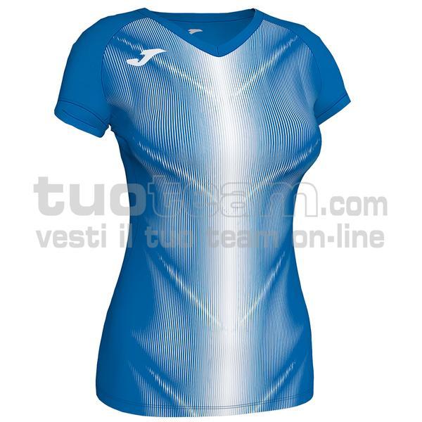 900933 - OLIMPIA WOMAN MAGLIA MC 95% polyester 5% elastane - 702 ROYAL / BIANCO