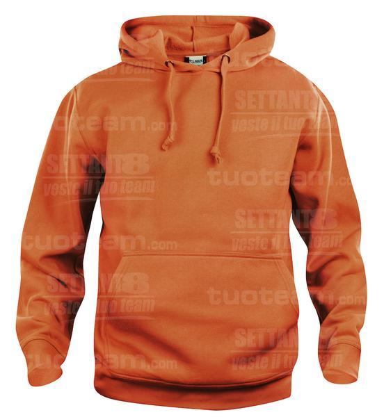 021031 - FELPA Basic Hoody - 18 arancione