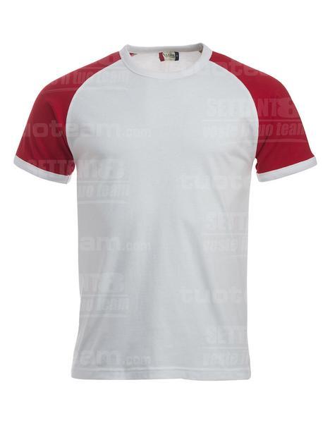 029326 - T-SHIRT Raglan-T - 0035 bianco/rosso
