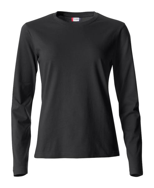 029034 - Basic-T Long Sleeve Lady - 99 nero
