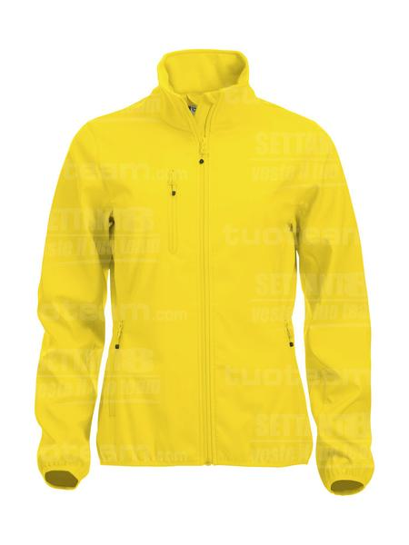 020915 - GIACCA Basic Softshell Jacket Ladies - 10 giallo limone