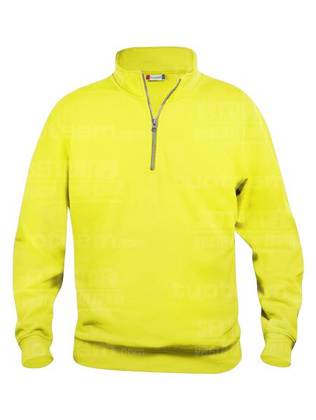 021033 - FELPA Basic Half Zip - 11 giallo HV