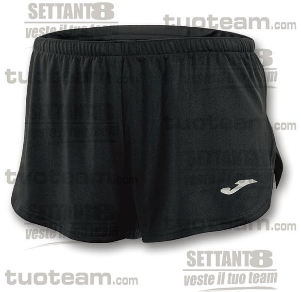 100091 - RECORD SHORT 100% polyester interlock - NERO