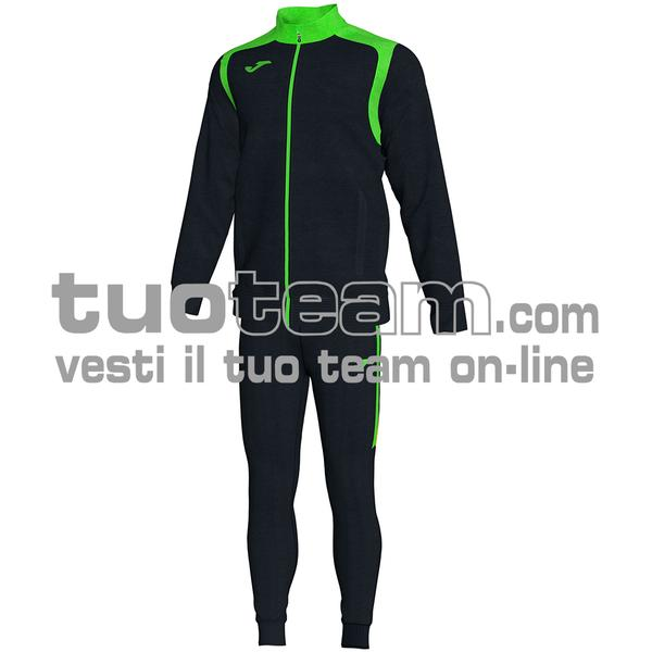 101267 - TUTA CHAMPION V 100% polyester interlock - 117 NERO / VERDE
