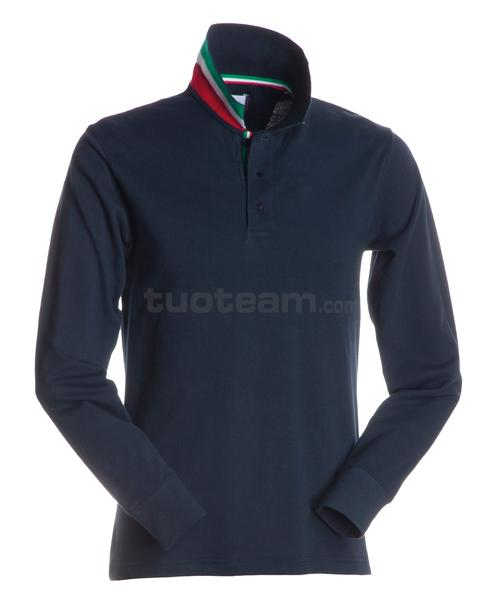LONG-NATION - POLO LONG-NATION - BLU NAVY/ITALIA