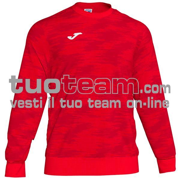 101329 - FELPA GIROCOLLO 100% polyester fleece - 600 ROSSO