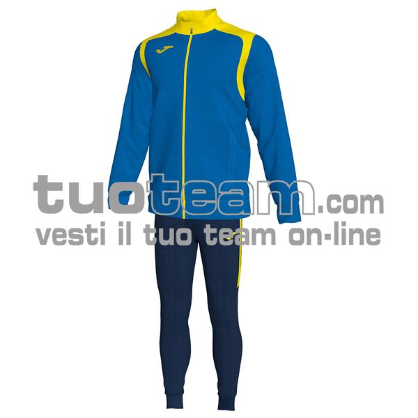 101267 - TUTA 100% polyester interlock - 709 ROYAL / GIALLO