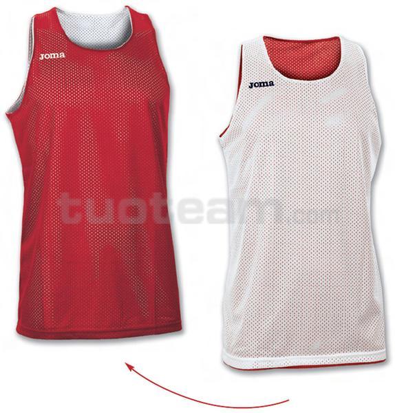 100050 - ARO MAGLIA DOUBLE 100% polyester mesh - 600 ROSSO/BIANCO